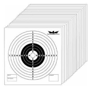 Alvo - Falconarmas - Em Papelão - 14x14 - 100 Unidades
