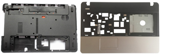 Kit Carcaça Inferior Base Chassi + Superior Acer Aspire E1-521 E1-531 E1-57 E1-571-6824 E1-571-6854 E1-571-6887