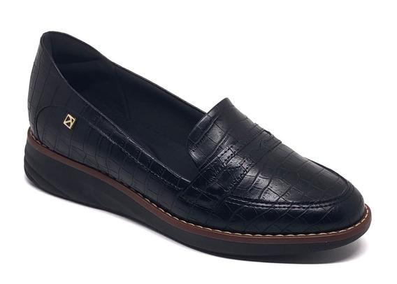 Sapato Anabela Piccadilly Preto Super Confortável 324001