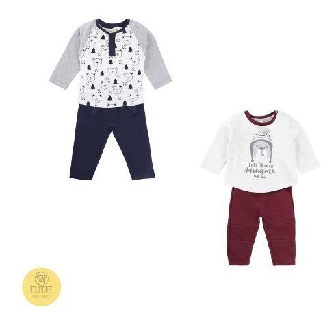 Kit 2 Conjuntos Infantil Bebê Blusa + Calça Menino