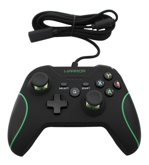 Controle joystick Multilaser Warrior JS079 preto