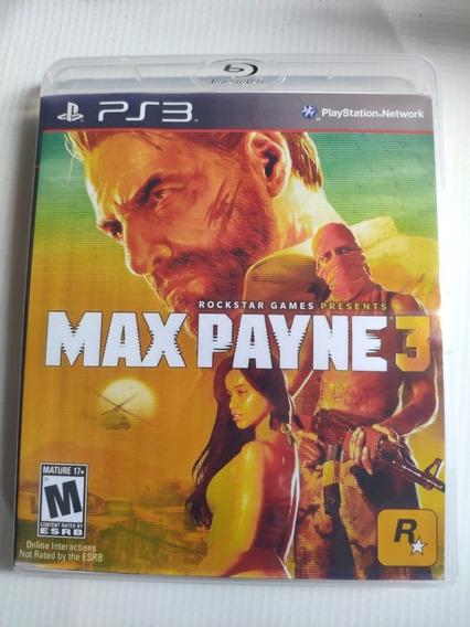 Max Payne 3 Ps3 Midia Física Semi Novo Envio Imediato