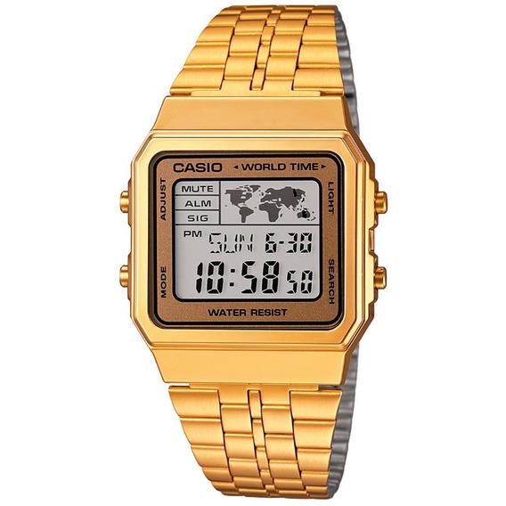 Relógio Casio Vintage Retro A500wga-9 Dourado A500 Original