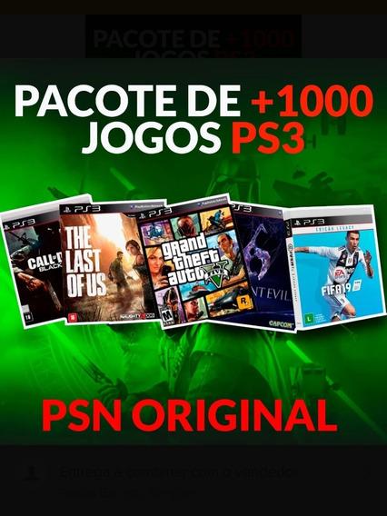 Promoção!!!! 1000 Jogos Para Ps3 Originais + Brinde