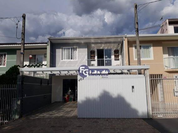 Sobrado Com 3 Dormitórios À Venda, 124 M² Por R$ 450.000,00 - Ouro Fino - São José Dos Pinhais/pr - So0093