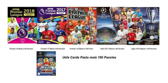 6 Kits Premier 14-17-18 E Champions 15/16-16/17 Fig E Card)