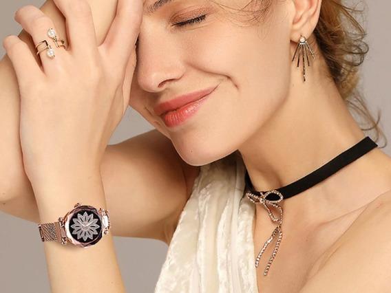 Relógios Feminino Quartzo Aço Inoxidável Pulseira Magnética
