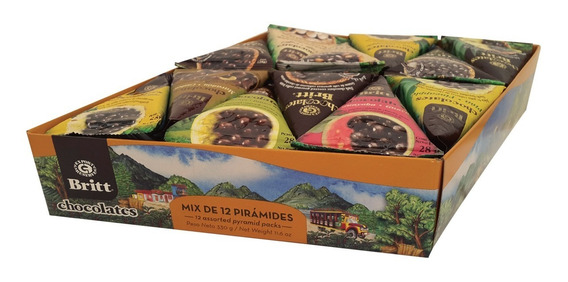 Chocolate Romboide Britt 12 Piramides 3 - kg a $208