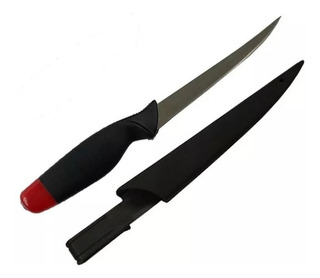 Cuchillo Para Filetear Pesca - Funda Rigida Flota En El Agua