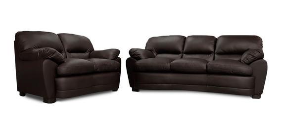 Sala De Piel - Palermo Sofa Y Love - Conforto Muebles