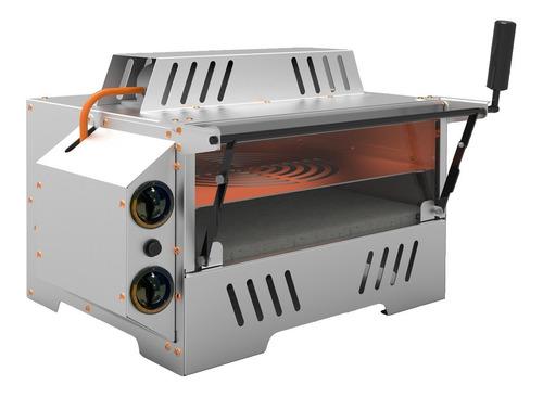 Imagem 1 de 4 de Forno Pizza Gás Industrial Infravermelho Refratário 2 Pizzas