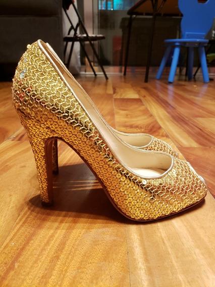 Sarkany Stillettos De Glitters Modelo Gold Numero 37