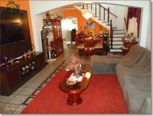 Sobrado Com 4 Dormitórios À Venda, 313 M² Por R$ 695.000,00 - Parque Marajoara - Santo André/sp - So1476