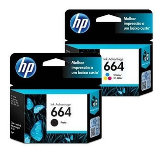 Kit Cartuchos Original Hp 664 N + C Impresora 2135 3635 4535