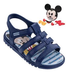 Sandália Grendene Mickey Azul