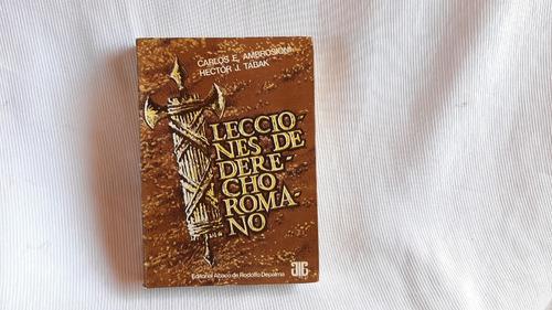 Imagen 1 de 10 de Lecciones De Derecho Romano Ambrosioni Tabak Abaco