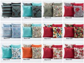 Kit Com 8 Capas Para Almofadas Decorativa Azul Tiffany 45x45
