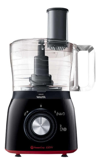 Multiprocessador Philips Walita RI7632 Viva Collection 650W preto e vermelho 110V