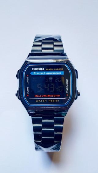Relógio Casio Preto Retrô A168we Unissex C/ Caixa
