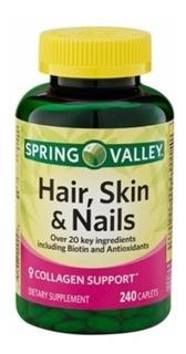 Hair Skin & Nails Spring Valley 240 Cápsulas