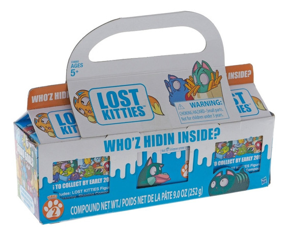 Kit Com 3 Lost Kitties Surpresa Hasbro Massinha