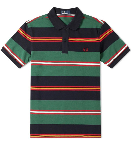 Fred Perry Polo Contrast Stripe Talla S Ch Original