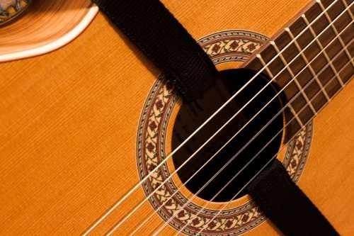 Correa Guitarra Criolla / Acustica Doble Toma Enganche Boca