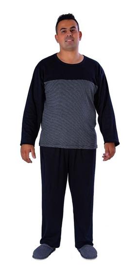 Roupa De Dormir Pijama Masculino Inverno Frio Plus Size