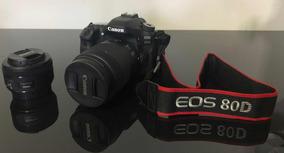 Câmera Canon Dslr Eos 80d Kit Lente 18-135mm + 50mm 1.8