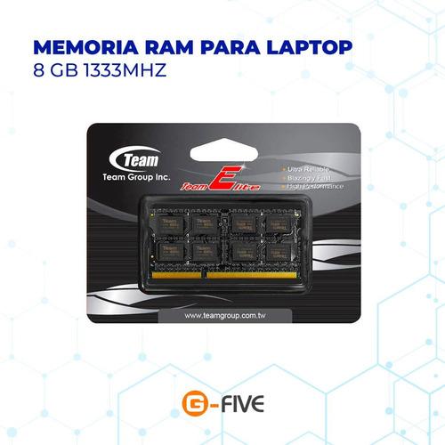 Memoria Ram Para Laptop Ddr3 8gb 1333mhz Teamgroup