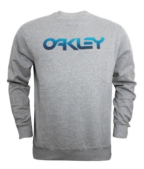 Moletom Oakley Mark Ii Pixel Tone Crew Cinza