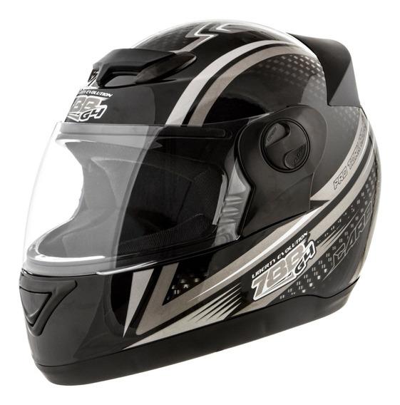 Capacete De Moto Masculino 4g Carbon Preto Cinza Nº 58,60