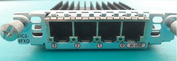 Modulo Cisco Vic2-4fxo Fxo Voice Interface Card 4 Portas