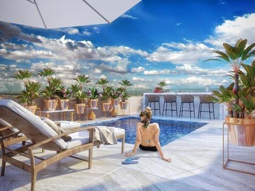 Departamento De 2 Recamaras En Condo Hotel En Playa Del Carmen P1800