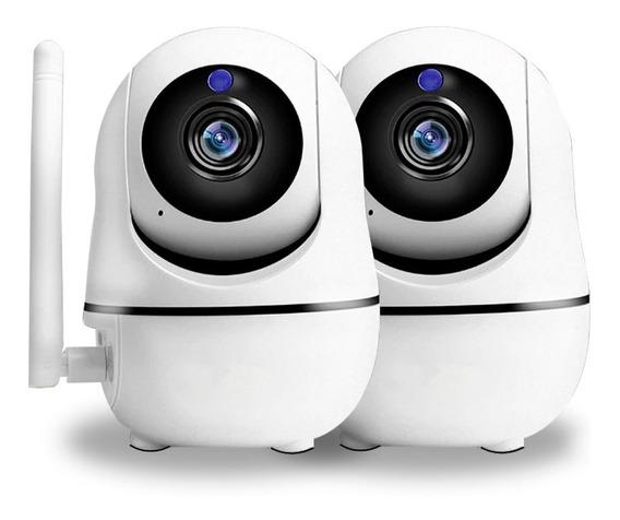 Kit Camaras Seguridad Ip Motorizado P2p Interior Wifi Vision Nocturna Infra Rojo Alerta Celular Sistema De Monitoreo