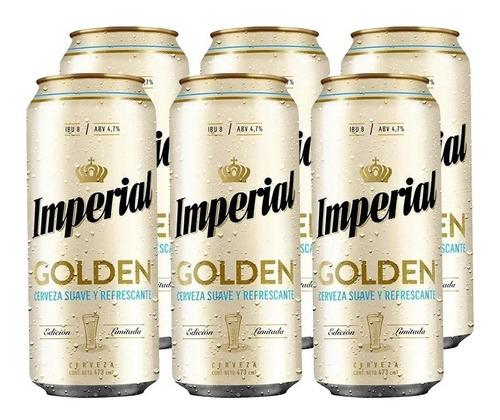 Imagen 1 de 10 de Imperial Golden . Cerveza . 473ml X 6 - Tomate Algo® -
