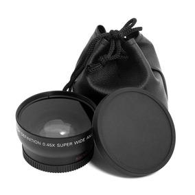 Lente Grande Angular Wide 0.45 + Macro P/ Lentes Rosca 62mm