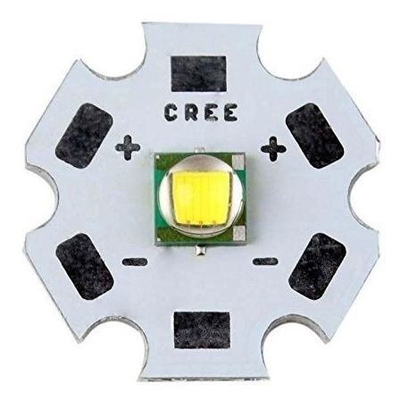 Power Led Cree Xml 10w 3v Vermelho T6 K1682 20mm Xm-l