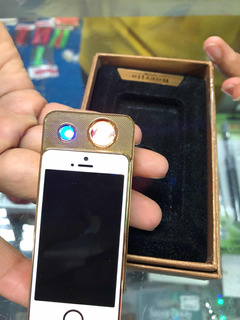 Encendedor Eléctrico Recargable iPhone Metálico Candela Usb