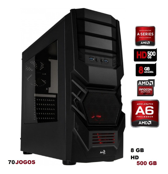 Cpu Gamer Barato Amd A 67480 8gb 500gb Hd 70 Jogos