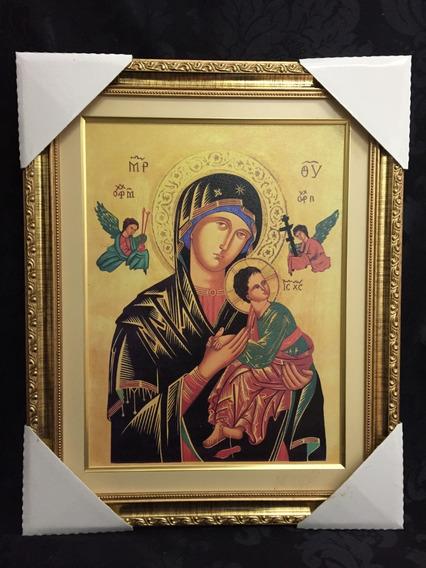 Quadro Nossa Senhora Do Perpétuo Socorro 50x40cm Resina