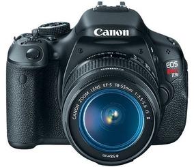 Câmera Fotográfica Canon T3i Completa Com Acessórios