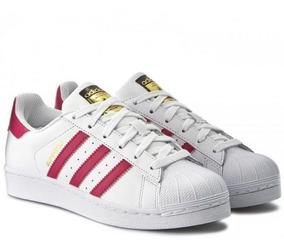 Tenis adidas Superstar Foundation Blanco/rosa B23644