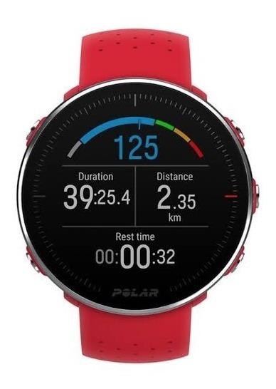 Relógio Polar Vantage M Vermelho Original Semi Novo Perfeito