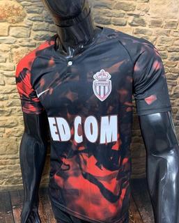 Camisa Monaco - Game - Preta Vermelha 2019/20 - Personalize