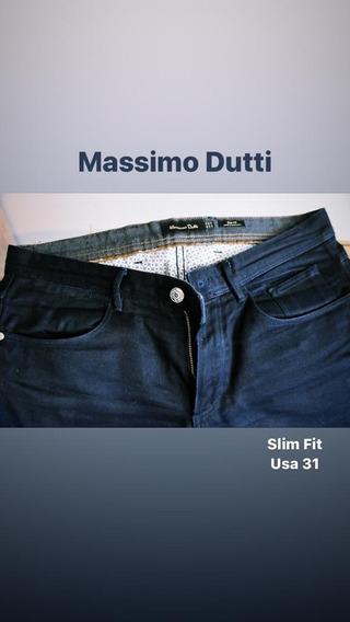 Jean Massimo Dutti. Importado. Azul Oscuro