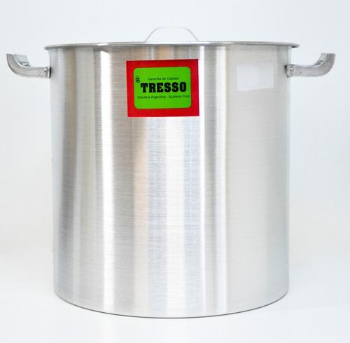Imagen 1 de 5 de Olla Aluminio Con Asas Nro 50 Tresso 51x52cm 100 Lt