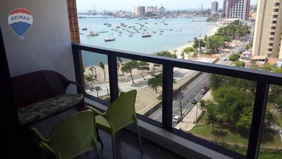 Flat À Venda, Na Avenida Beira Mar - Praia De Iracema, Fortaleza. - Fl0002