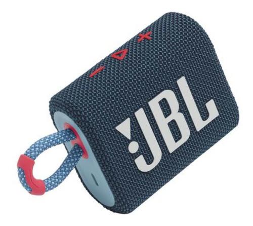 Alto-falante JBL Go 3 portátil com bluetooth blue e pink