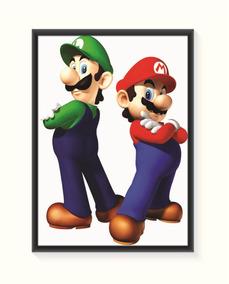 Pôster Mario E Luigi - Médio
